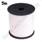 5m PP-Polyesterkordel 1,5mm Weiß