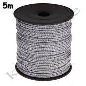 5m PP-Polyesterkordel 1,5mm Silbergrau