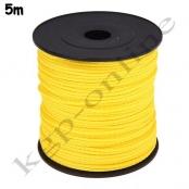 5m PP-Polyesterkordel 1,5mm Gelb