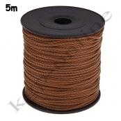 5m PP-Polyesterkordel 1,5mm Braun
