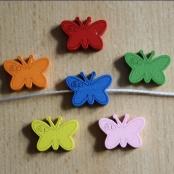 6 Motivperlen Schmetterling mit Rose