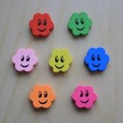 7 Motivperlen Blume mit lachendes Gesicht