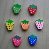 7 Motivperlen Erdbeeren bunt