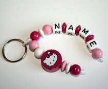 Hello Kitty Schlüsselanhänger mit Namen Farbwahl
