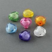 50 Kunstoff Perle in Perle Herz ca 8mm