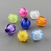 10 Grosse Kunstoff Perle in Perle gewellt 14mm