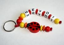 Marienkäfer Schlüsselanhänger mit Namen verschiedene Farben