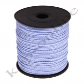 100m PP-Polyesterkordel 1,5mm Babyblau/Lavendel