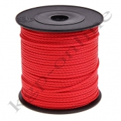 100m PP-Polyesterkordel 1,5mm Rot